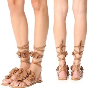 NIB Tory Burch Blossom Leather Gladiator Sandals